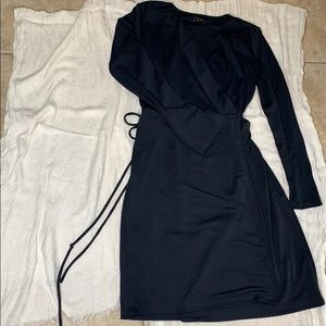 Midnight blue Ann Taylor wrap dress